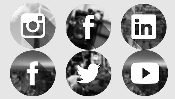 Image result for facebook twitter instagram icons